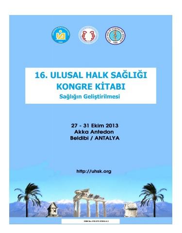 16. Ulusal Halk Sağlığı Kongresi Kongre Kitabı