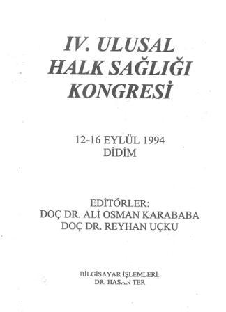4. Ulusal Halk Sağlığı Kongresi Kongre Kitabı