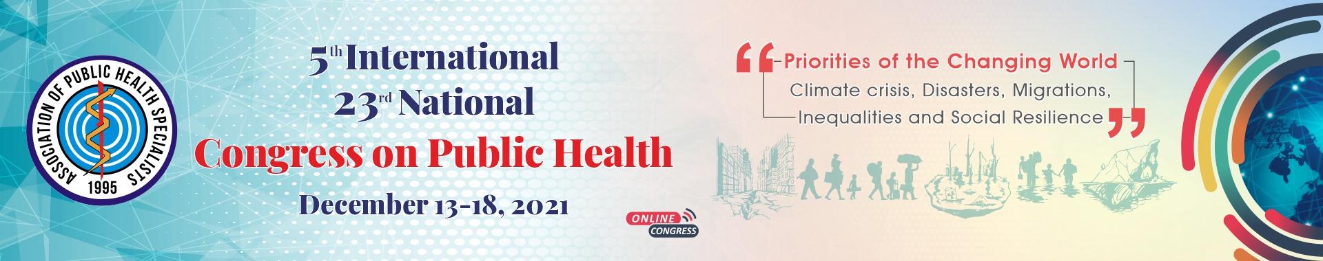 5. International 23. National Public Health Congress