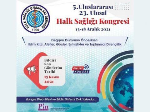 5. Uluslararası 23. Ulusal Halk Sağlığı Kongresi 2021