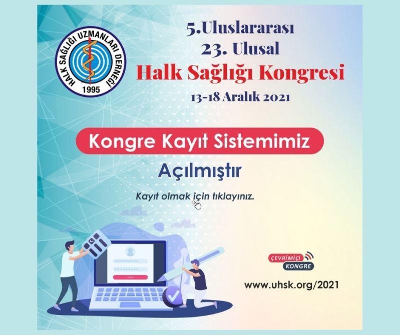 5. Uluslararası 23. Ulusal Halk Sağlığı Kongresi 2021 Kayıt Sistemi