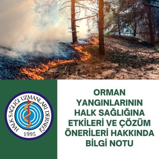 Orman Yangınlarının Halk Sağlığına Etkileri Ve Çözüm Önerileri Hakkında Bilgi Notu