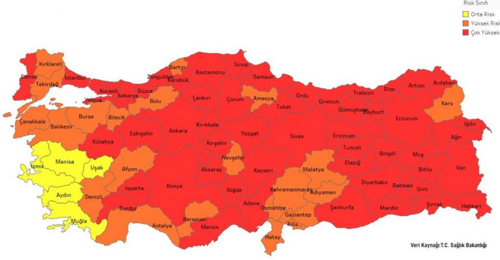 Şekil-2 24-30 Temmuz Haftası Tahmini Risk Haritası (@OzancanOzdemir)