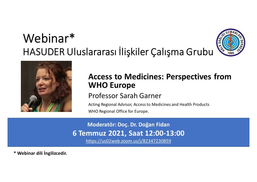Webinar Access to Medicines-Perpectives from WHO Eurpe